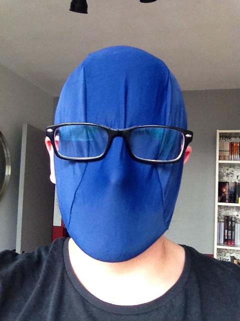 Bonnet de bain bleu