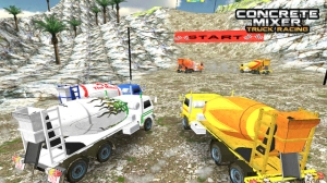 concrete mixer truck racing