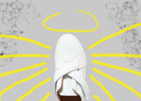 chaussure scratch croisés
