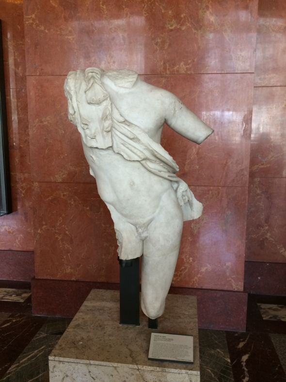 Satyre au repos attribué à Praxitèle